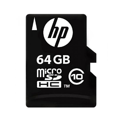 HP MICROSDHC CLASS 10 MEMORY CARD WITH ADAPTER 64GB
